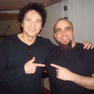 Con Terry Bozzio