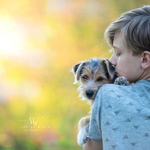 Tierische Freundschaft Tierliebe Hund und Mensch Sabina Weber