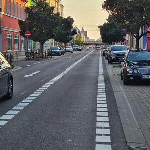 Neue Straßenführung in der Salzer Str. (Ihr habt recht- wir arbeiten dran)