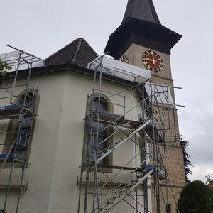 Kirche Rüderswil, Fensterbänke, Sandsteinrenovation, André Iseli Steinmetz