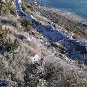 Le Cheiron : montée au col de Coursegoules - AU BOUT DES PIEDS