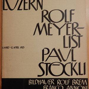 Franco Annoni / Rolf Brem Ausstellungskatalog 1953