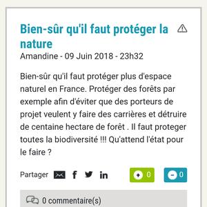 Protéger la Nature, la Biodiversité en France