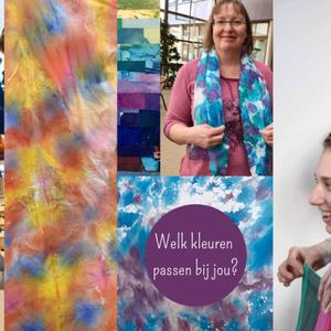 21 juni 2019: Kleurenanalyse en het beschilderen van een zijden sjaal in Nijmegen