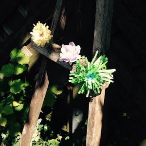 Hannahs paper flowers
