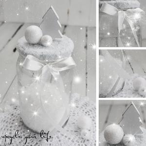 weihnachtlich dekoriertes schraubglas für gutscheine oder kleine hübschigkeiten...