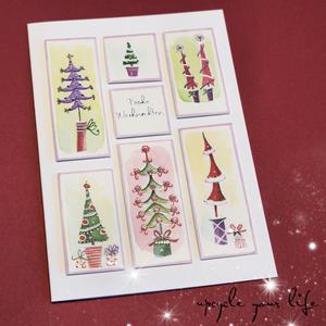 upcycling weihnachtskarte...