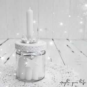 "kerzen im glas ""white christmas""..."
