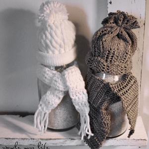 geschenke im glas... mütze & schal aus alten stulpen & pullovern...