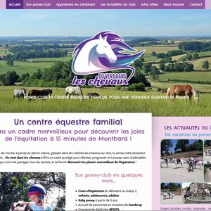 Site web Du vent dans les chevaux, centre équestre et poney-club à Senailly en Côte d'Or