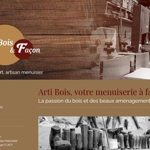 Site web Arti Bois & Façon, menuiserie artisanale dans l'Yonne