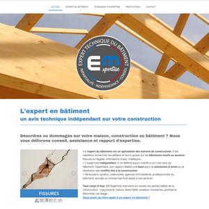 Site web EM Expertise, expert technique du bâtiment
