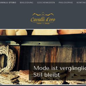 Konzeption, Webdesign und technische Umsetzung l www.cavalli-doro.de