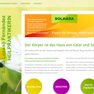 Konzeption, Webdesign und technische Umsetzung l www.solhada.de