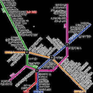 Plan train/métro de l'agglomération de Rome