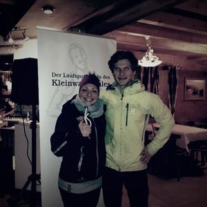 17. Int. Volksbank Vorarlberg Winterduathlon, Sarah Wagner und Lukas Rinner, Siegerehrung