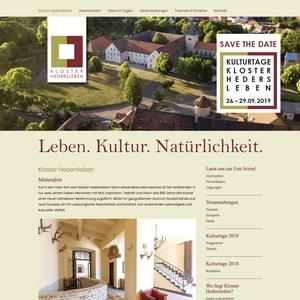 Umfangreiche Betreuung des Kloster Hedersleben, Entwicklung der Marke und deren Angebote