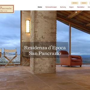 Darstellung und Vermarktung der Residenza d'Epoca San Pancrazio