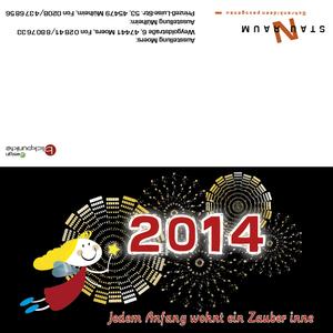 blickpunkte design: Grußkarte zu Weihnachten und zum Jahreswechsel von Staunraum in Moers