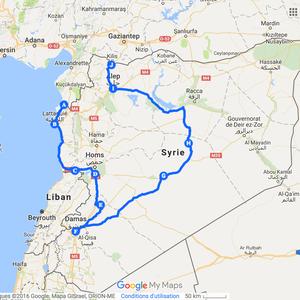 Itinéraire à vélo en Syrie en 2010