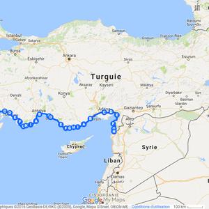 Itinéraire à vélo en Turquie en 2009/2010