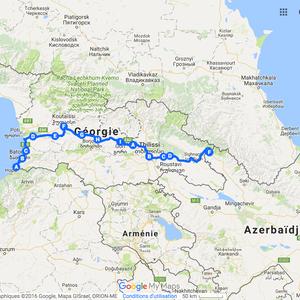 Itinéraire à vélo en Géorgie en 2010