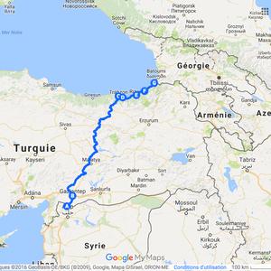 Itinéraire en Turquie et bus en 2010
