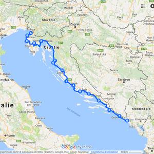 Itinéraire à vélo en Slovénie et Croatie - 2009