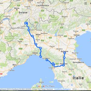 Itinéraire à vélo en Italie - 2015