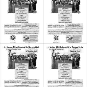 """Flyer vom """"2. kleiner Mittelaltermarkt"""" (schwarz-weiß)"""