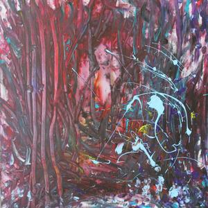 Baluburger, 50x60, 2008, Acryl auf Malplatte - blind malen