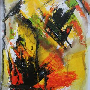 Kraftakt, 34x44, 2009, Acryl auf Leinwand