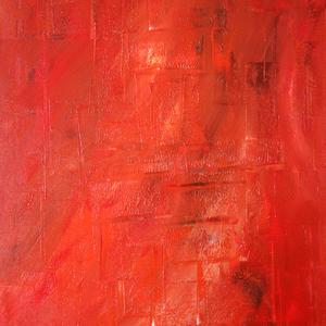 Mystischer roter Regen, 50x60, 2006