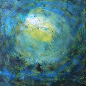 Universum, 50x50, 2008, Acryl auf Leinwand