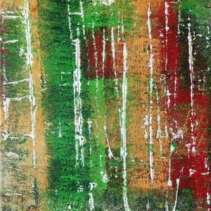 Finnischer Birkenwald, Teil 2/3, 50x60, 2004, Acryl auf Leinwand