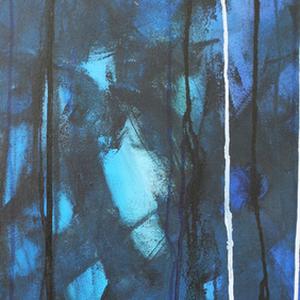 Gewitterstimmung (1/2), 40x80, 2008, Acryl auf Leinwand