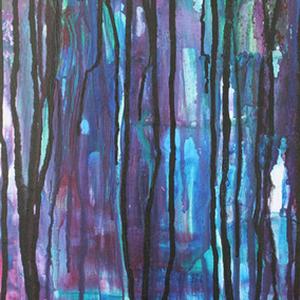 Gewitterstimmung (2/2), 40x80, 2008, Acryl auf Leinwand