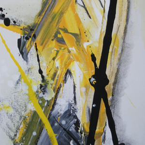 Gegensätze, 30x80, 2010, Acryl auf Leinwand