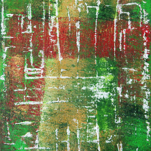 Finnischer Birkenwald, Teil 3/3, 50x60, 2004, Acryl auf Leinwand