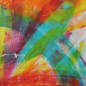Tanz im Regenbogen, 50x60, 2008, Acryl auf Malplatte