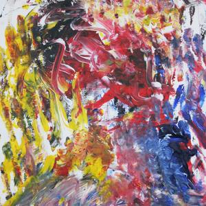 Abstrakt, 50x60, 2008, Acryl auf Malplatte - blind malen