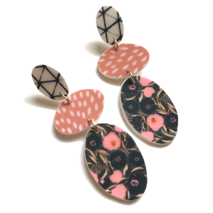 preppy patterned earrings
