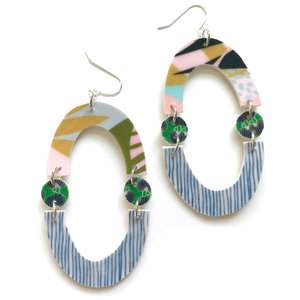 street art arch earrings