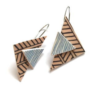 traingle geometric earrings