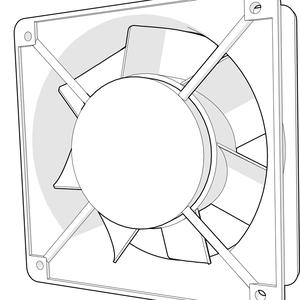 Ventiladores para tablero electrico