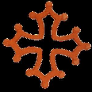 Croix occitane évidée diamètre 48