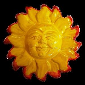Soleil émaillé 2 couleurs diamètre 34