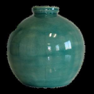 Vase boule petit modèle couleur vert Hauteur 15 cm