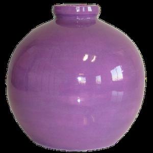 Vase boule petit modèle couleur violet Hauteur 15 cm
