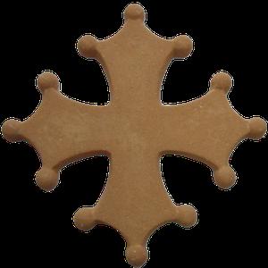 Croix occitane pleine diamètre 48
